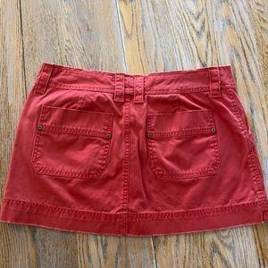 H&M cord mini skirt/back zip slit pockets/side zip